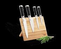 Nože, bloky na nože, pomůcky